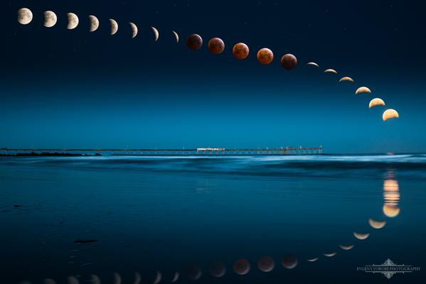A timelapse of the lunar eclipse on April 4, 2015.